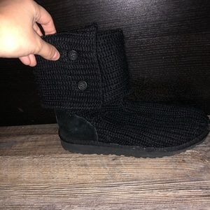 Black Knitted Uggs